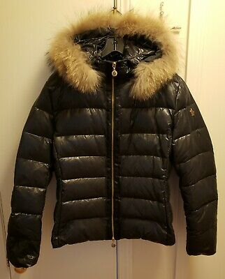 MONCLER Women's Barge Quilted Down Coat in Black Size:4