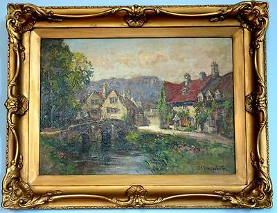 Ernest Llewellyn Hampshire (1882-1944) Authentic Antique British Oil Painting