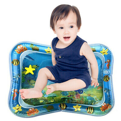 Baby Kids Water Mat Tummy Time Inflatable Play Mat floor Activity Gym Crawling