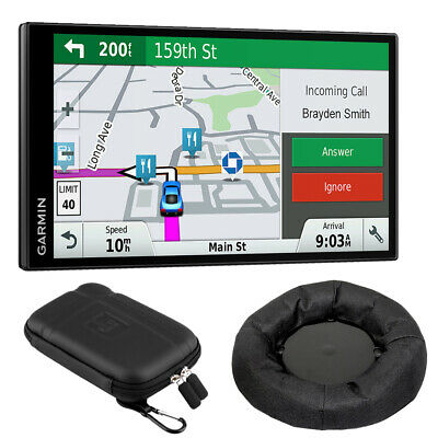 Garmin DriveSmart 61 NA LMT-S GPS Nav Smart Features + Dash Mounting Bundle