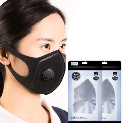 Reusable N95 PM2.5 Mask Anti Flu Dust Smoke Allergy Respirator with Air Valve