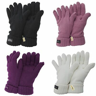 FLOSO Ladies/Womens Thinsulate Winter Knitted Gloves (3M 40g) (GL195)