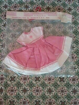 "Vintage 11"" doll dress new in pack NIP Madame Alexander Lissy Shirley Temple"