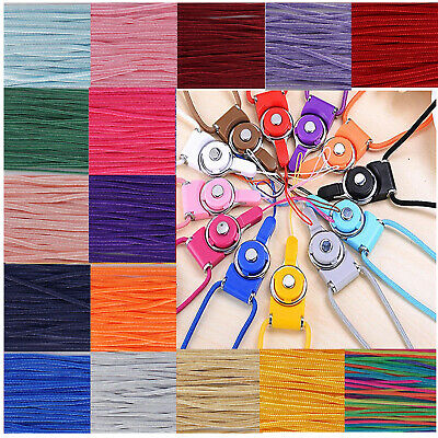 Nylon Braided Cord Thread String 1.2mm Multicolor for Necklace Sewing Crafts 10m