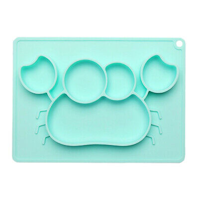 Baby's Silicone Plate Cartoon Pattern Meal Complementary Partition Food Plate