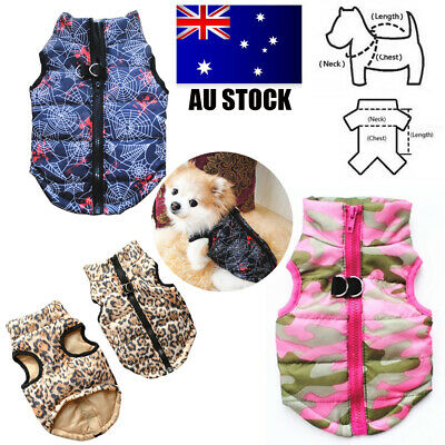 Small Pet Dog Soft Padded Vest Coat Cat Puppy Doggy Warm Jacket Clothes Apparel