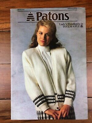 Vintage Patons Knitting  Book 845 Lady's Handknits in Totem 8 Ply