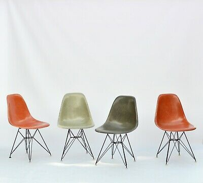 vintage Eames Fiberglass Chairs DSR by Zenith Plastics for Herman Miller 1957