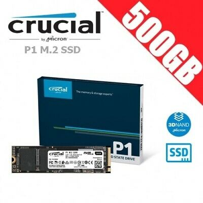 Crucial P1 500GB 3D NAND NVMe PCIe M.2 SSD Memory Solid State Drive PC Internal