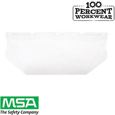 MSA V-GARD Clear Visor General Purpose For Safety Helmets Hard Hats Face Eye New