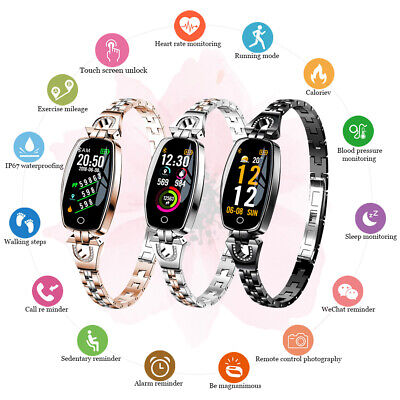 Waterproof Smart Watch Fitness Tracker Mirror Heart Rate Blood Pressure Tempered