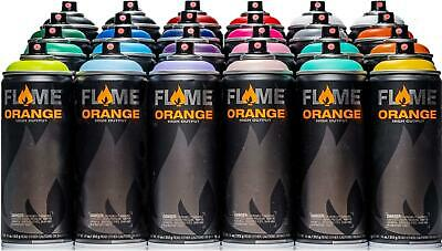 Flame Naranja Spray Paint 24 Can Bundle