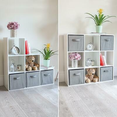 6/9 CUBE WOODEN STORAGE SYSTEM BOOKCASE SHELVING UNIT ORGANISER DISPLAY Wido