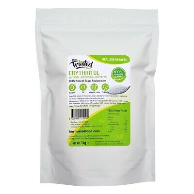 Erythritol 1kg - ZERO Calorie 100% Natural Sugar Replacement - FREE NEXT DAY*