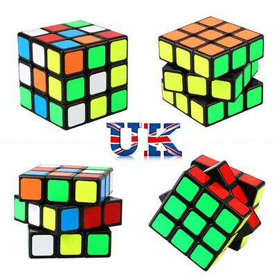 NEW Rubik's Cube Magic Cube Smooth Fast Speed Rubix Rubiks Puzzle Kids Gifts UK