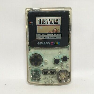 Nintendo Game Boy Color Clear GameBoy GBC CGB-001 Tested Working Japan 9238