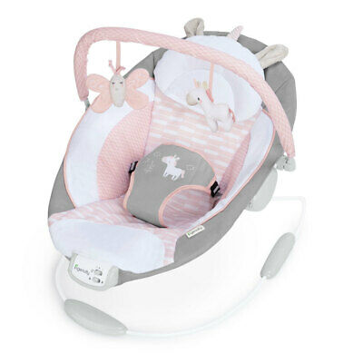 Ingenuity Baby Bouncer Chair/Rocker Seat 0m+ Infant/Newborn w/ Toys Audrey Pink