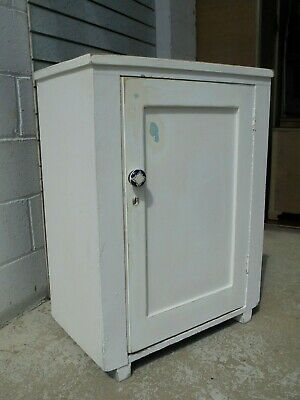 Antique Rustic Pine French Cupboard Painted Shabby Chic Sink Unit Project