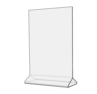 "5""W x 7""H Clear Acrylic Double-sided Table Sign Holder, Table Tent Qty 4"