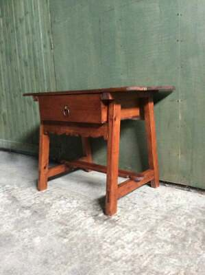 Vintage 1980's modern Arts and crafts Pine table