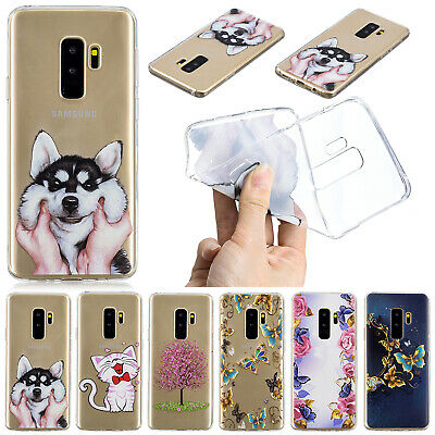 For Samsung Galaxy A8 2018 Case S8 S9 Cute Patterned Clear Soft TPU Rubber Cover