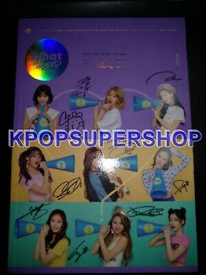 Twice 5th Mini Album What is Love? Autographed Signed Promo CD Photocard