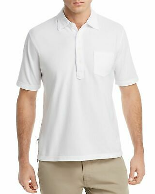 New $295 Oobe Men Fit White Cotton Silk Short-Sleeve Button Casual Shirt Size Xl