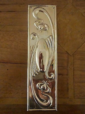 Brass Art Nouveau Finger Door Push Plate Fingerplate Plates Handles Knobs