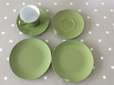 Vintage Picnic Camping Melaware bundle - cup plate saucer - green 70s - spares