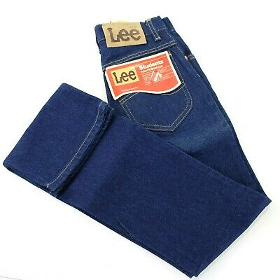 Lee Vintage Student Boot Cut 25x32 High Waist Trim Fit Blue Jeans USA Deadstock