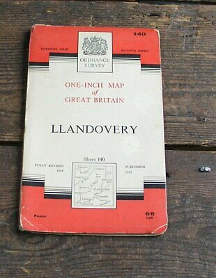 Old Os Map Llandovery Wales 19601 Inch  Ordnance Survey Map 140