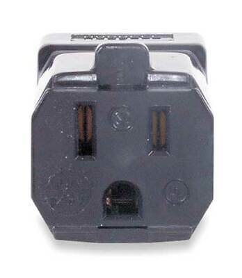 HUBBELL WIRING DEVICE-KELLEMS HBL5969VBLK Connector,5-15R,15A,125V