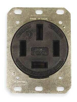 HUBBELL WIRING DEVICE-KELLEMS HBL7301A 60A 4W Single Receptacle 120/208VAC