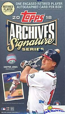 2018 Topps Archives Signature Series Retired Edition Mlb Factory Sealed Hobby Bo