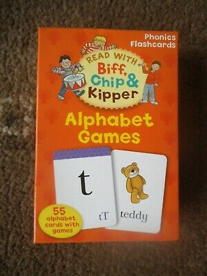 Read With Biff, Chip & Kipper ~ Phonics Flashcards ~  Alphabet Games   Vgc