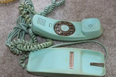 Western Electric Bell System Trimline Teal Green Rotary Dial Desktop Telephone