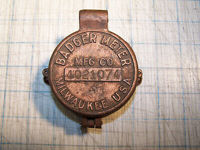 Vintage Badger Meter Mfg Co Brass Meter Cover with Glass Milwaukee USA