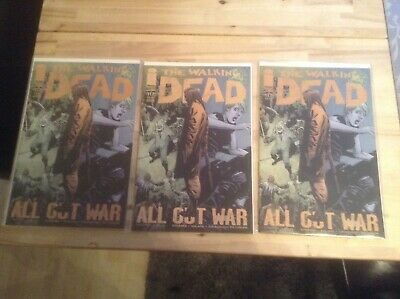 The Walking Dead Comic Issue #117 1st 2nd & 3rd Print Issues Bagged & Boarded.