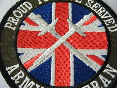 100MM GREAT DESIGN AND DETAIL ARMY SEW ON // IRON ON VETERANS PATCH