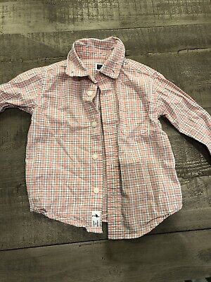 Janie and Jack Baby Boy Button Shirt Pink 6-12 Months
