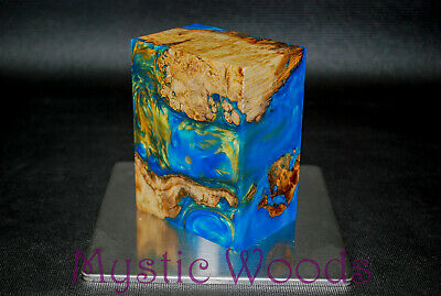 Turquoise with Gold Swirls - CNC, Mods, Grips, Fast Shipping!