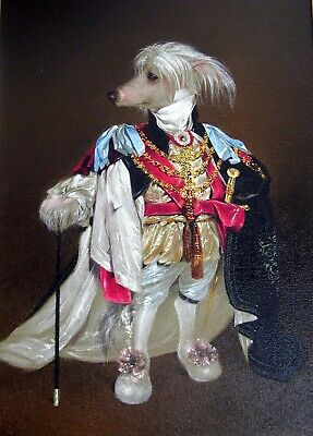 """""""Lord Rockford of Frankland"""" Richard Bober notecards Chinese Crested Dog 2011"""