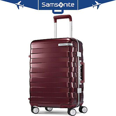 """Samsonite Framelock Hardside Carry On Luggage with Spinner Wheels 25"""" Cordovan"""