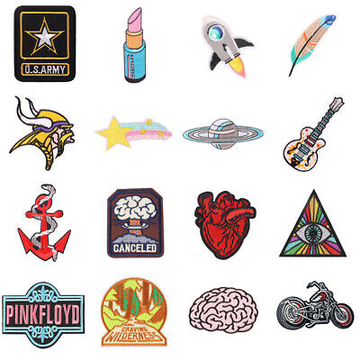 Fashion Punk Embroidered Iron-on/Sew ON Patch Fabric Applique Badge CO-01