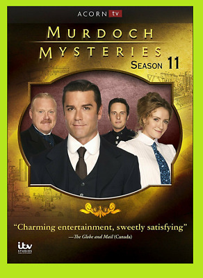 New & Sealed Murdoch Mysteries: Season 11 Eleven (DVD, 2018, 5-Disc Set)