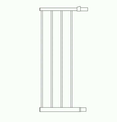 Lindam  Safety Gate Extension 28cm White