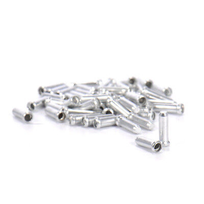 100pcs Aluminum Bike Bicycle Brake Shifter Inner Cable Tips Wire End Cap #ORP