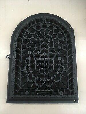 Antique Arched Cast Iron Decorative Heat Wall Grate Register W/ Louvers
