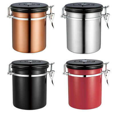 Coffee Container Stainless Steel Beans Canister Vacuum Seal Storage Caddies Jar