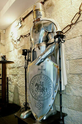 SCA Medieval Suit of Armor 17th Century Templar Full Body Armour W Base AR50